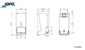 Jofel AC40000 дозатор для жидкого мыла
