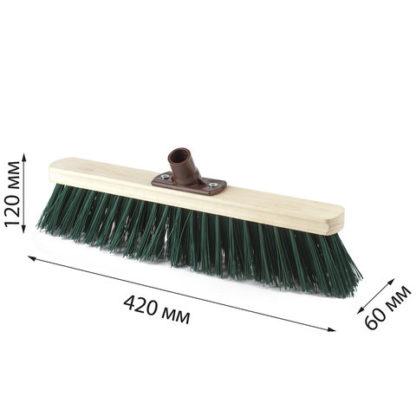 Щетка для уборки техническая 40 см жесткая щетина 8 см