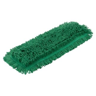 Моп плоский х/б для влажной уборки 40 см зеленый