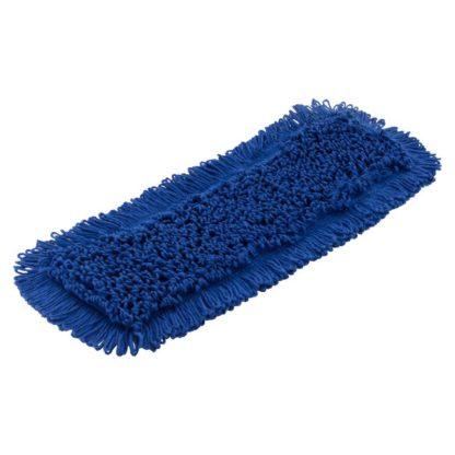 Моп плоский х/б для влажной уборки 40 см синий
