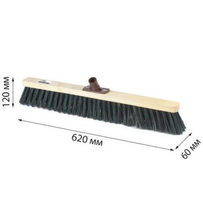 Щетка для уборки техническая 60 см жесткая щетина 8 см
