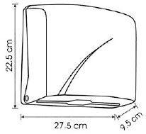 Диспенсер K1 Vialli для бумажных полотенец Z белый
