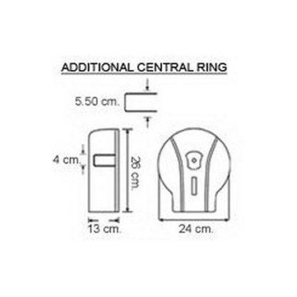 Диспенсер для туалетной бумаги Vialli (Виалли) MJ1M хром
