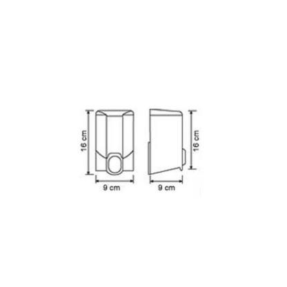 Диспенсер для жидкого мыла Vialli (Виали) S2T 500 мл прозрачный