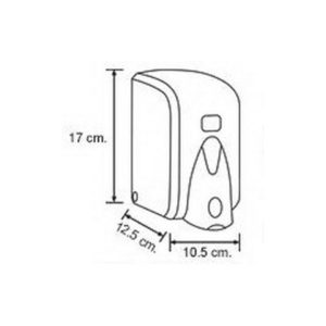 Диспенсер для жидкого мыла Vialli (Виали) S6 1000 мл белый