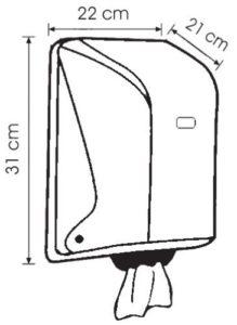Диспенсер SG1B Vialli (Виалли) черный для бумажных полотенец в рулоне с центральной вытяжкой