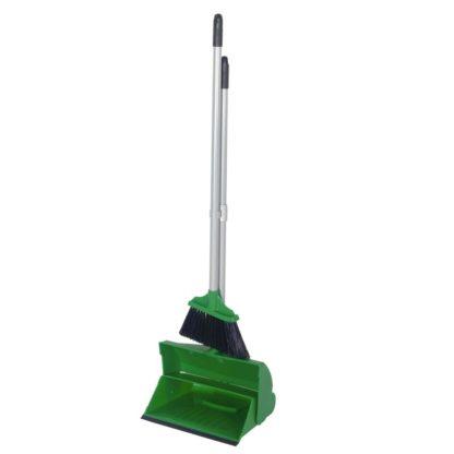 Комплект для уборки метла с совком зеленый