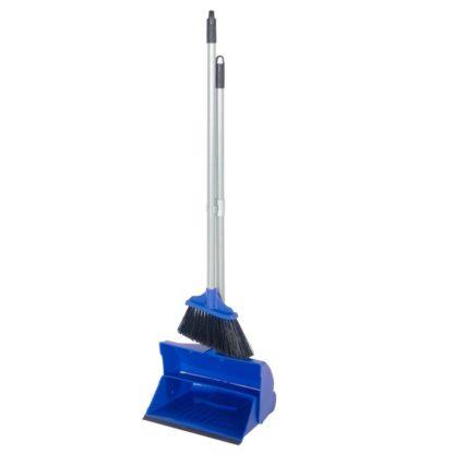 Комплект для уборки метла с совком синий