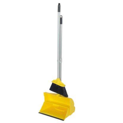 Комплект для уборки метла с совком желтый