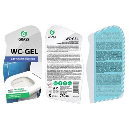 WC-Gel 0.75 л Средство для сантехники Grass
