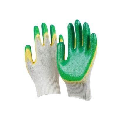 Перчатки рабочие трикотажные с двойным латексным покрытием