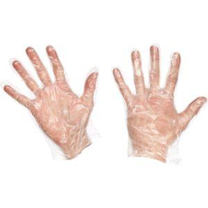Перчатки полиэтиленовые одноразовые прозрачные 100 шт/упак