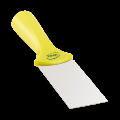 Ручной скребок нержавеющая сталь, с резьбовой ручкой, 50 мм, желтый цвет