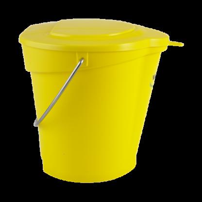Крышка для ведра арт. 5688, 6 л, желтый цвет