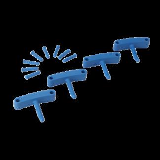Крючок 4 шт. к настенным креплениям  арт. 1017 и 1018, 140 мм, синий цвет