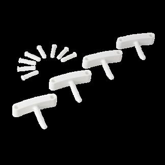 Крючок 4 шт. к настенным креплениям  арт. 1017 и 1018, 140 мм, белый цвет