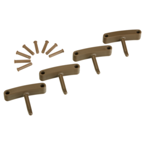 Крючок 4 шт. к настенным креплениям  арт. 1017 и 1018, 140 мм, коричневый цвет
