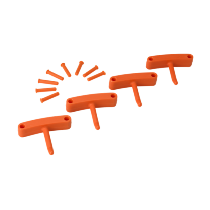 Крючок 4 шт. к настенным креплениям  арт. 1017 и 1018, 140 мм, оранжевый цвет