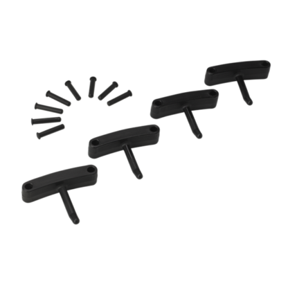Крючок 4 шт. к настенным креплениям  арт. 1017 и 1018, 140 мм, черный цвет