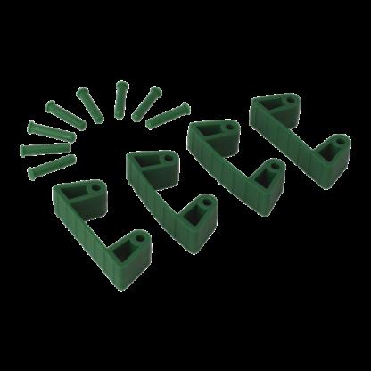 Резиновый зажим 4 шт. к настенным креплениям арт. 1017 и 1018, 120 мм, зеленый цвет