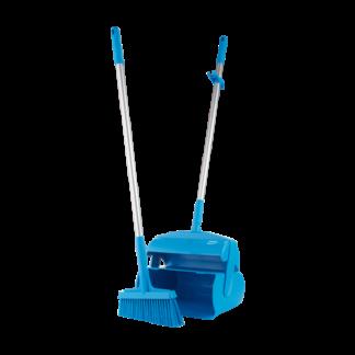 """Набор """"Щетка с совком"""", 370 мм, синий цвет"""