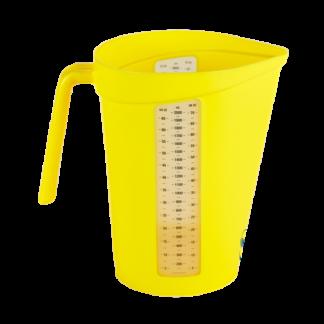 Мерный кувшин, 2 л, желтый цвет