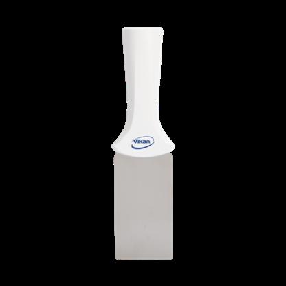 Ручной скребок нержавеющая сталь, с резьбовой ручкой, 50 мм, белый цвет