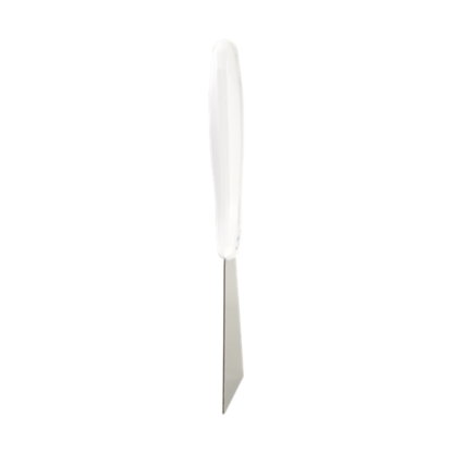 Ручной скребок нержавеющая сталь, 100 мм, белый цвет