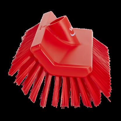 Щетка с изогнутой под углом колодкой, 265 мм, средний ворс, красный цвет