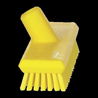 Щетка скребковая поломойная с подачей воды, 270 мм, Очень жесткий, желтый цвет