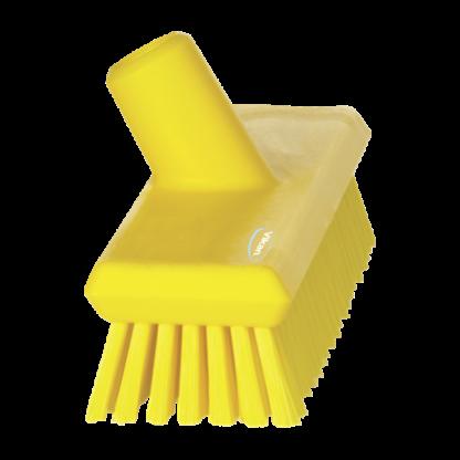 Щетка скребковая поломойная с подачей воды, 270 мм, средний ворс, желтый цвет