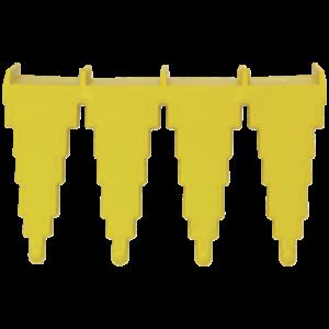 Настенный держатель для инвентаря, 240 мм, желтый цвет