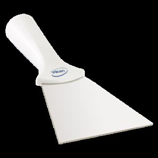 Ручной скребок нержавеющая сталь, с резьбовой ручкой, 100 мм, белый цвет