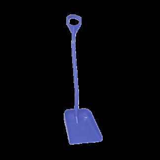 Эргономичная большая лопата с длинной ручкой, 380 x 340 x 90 мм., 1310 мм,  фиолетовый цвет