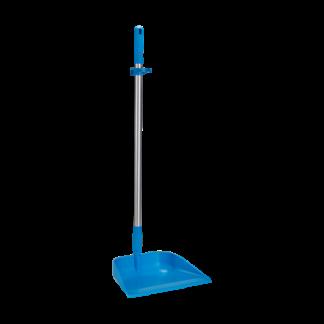 Совок с длинной ручкой, 330 мм, синий цвет