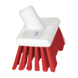 Щетка скребковая поломойная с ворсом двух длин, 245 мм, Жесткий, красный цвет