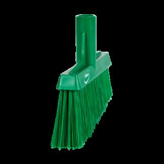 Щетка для подметания с ворсом под углом, 260 мм, средний ворс, зеленый цвет