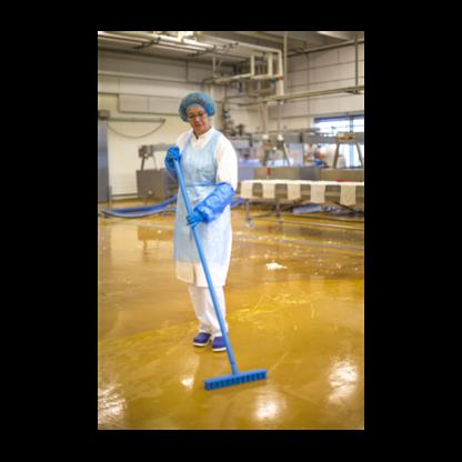 Скребковая щетка для пола UST (Ультра Гигиеничная Технология), 400 мм, Жесткий, синий цвет