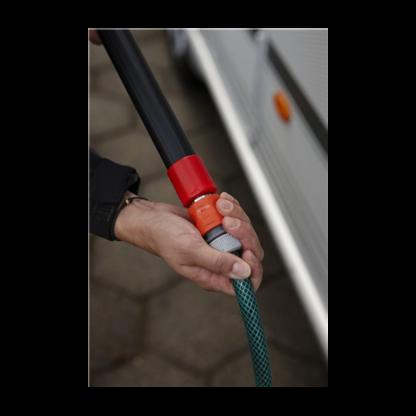 Алюминиевая ручка с подачей воды с защелкой, 1060 - 1600 мм,Ø32 мм, черный цвет