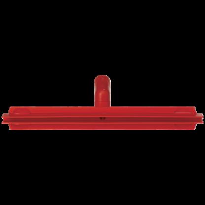 Гигиеничный сгон с подвижным креплением и сменной кассетой, 405 мм, красный цвет