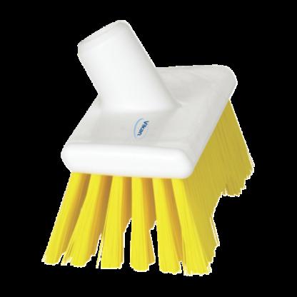 Щетка скребковая поломойная с ворсом двух длин, 245 мм, Жесткий, желтый цвет