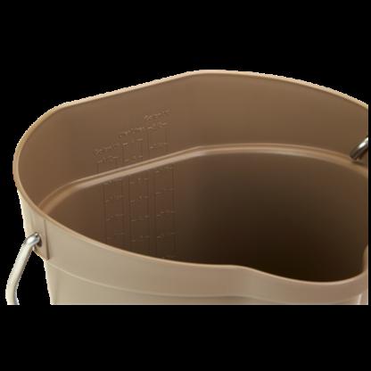Ведро, 6 л, коричневый цвет