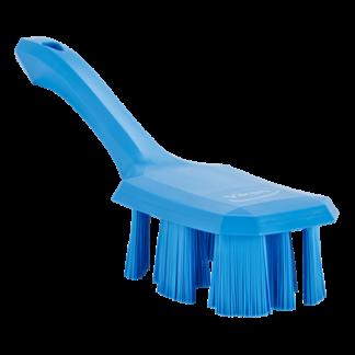 Щетка с короткой ручкой UST (Ультра Гигиеничная Технология), 260 мм, Жесткий, синий цвет