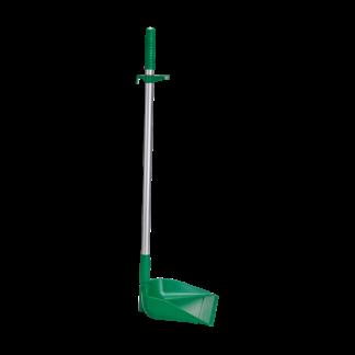 Совок с длинной ручкой, 330 мм, зеленый цвет