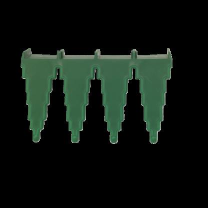 Настенный держатель для инвентаря, 240 мм, зеленый цвет