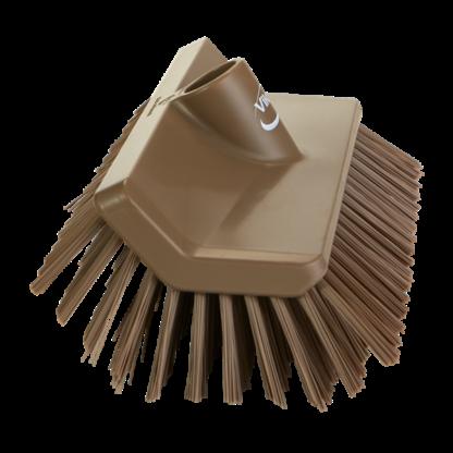 Щетка с изогнутой под углом колодкой, 265 мм, средний ворс, коричневый цвет