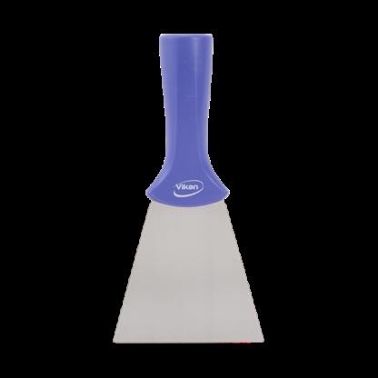 Ручной скребок нержавеющая сталь, с резьбовой ручкой, 100 мм, фиолетовый цвет