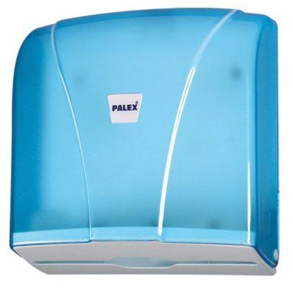 Диспенсер для бумажных полотенец Palex Z-сложения ,прозрачно синий 3464-1