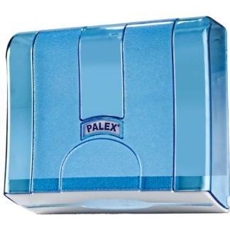 Диспенсер для бумажных полотенец синий Palex Z-сложения, 3570-1