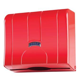 Диспенсер для бумажных полотенец красный Palex Z-сложения, 3570-B